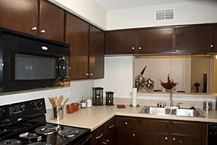 Commercial Apartment Kitchen Remodeling With Cabinet Refinishing And  Refacing And Countertop Resurfacing